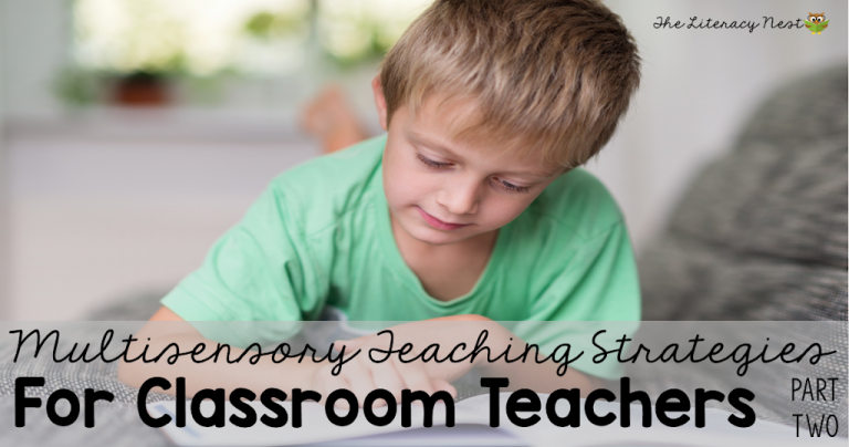 Multisensory Teaching Techniques in the Classroom