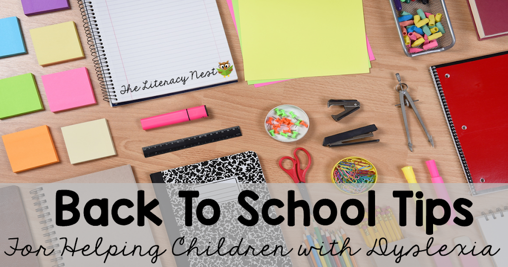 Back to School Tips for A Child with Dyslexia