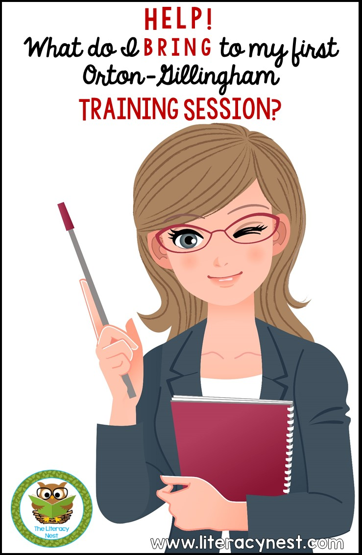 tips for your first Orton-Gillingham training