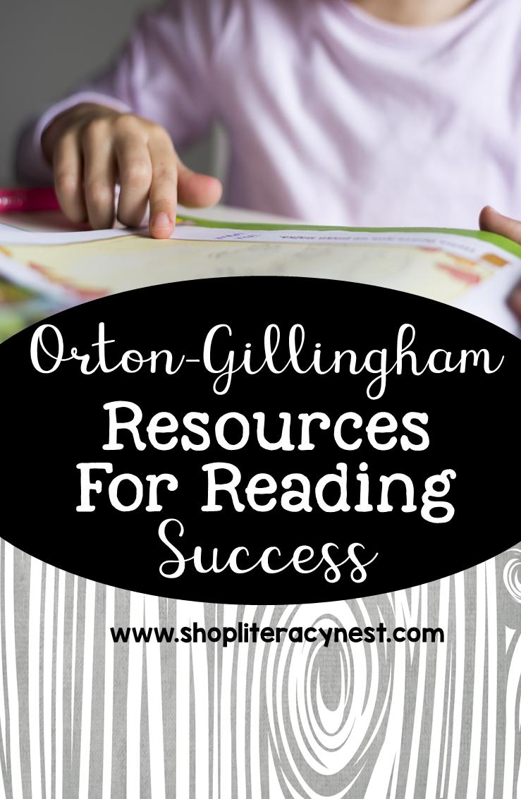 Orton-Gillingham lesson plans