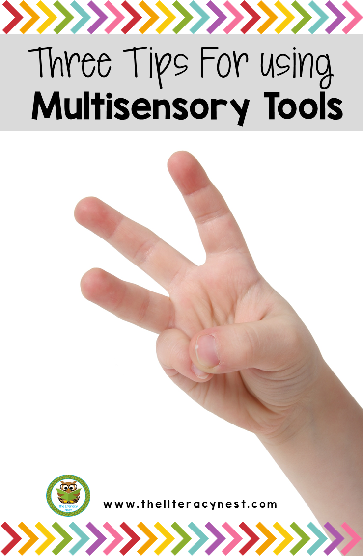 Looking for easy materials for multisensory teaching? Here are three tips to use in your literacy block or one one one instruction.