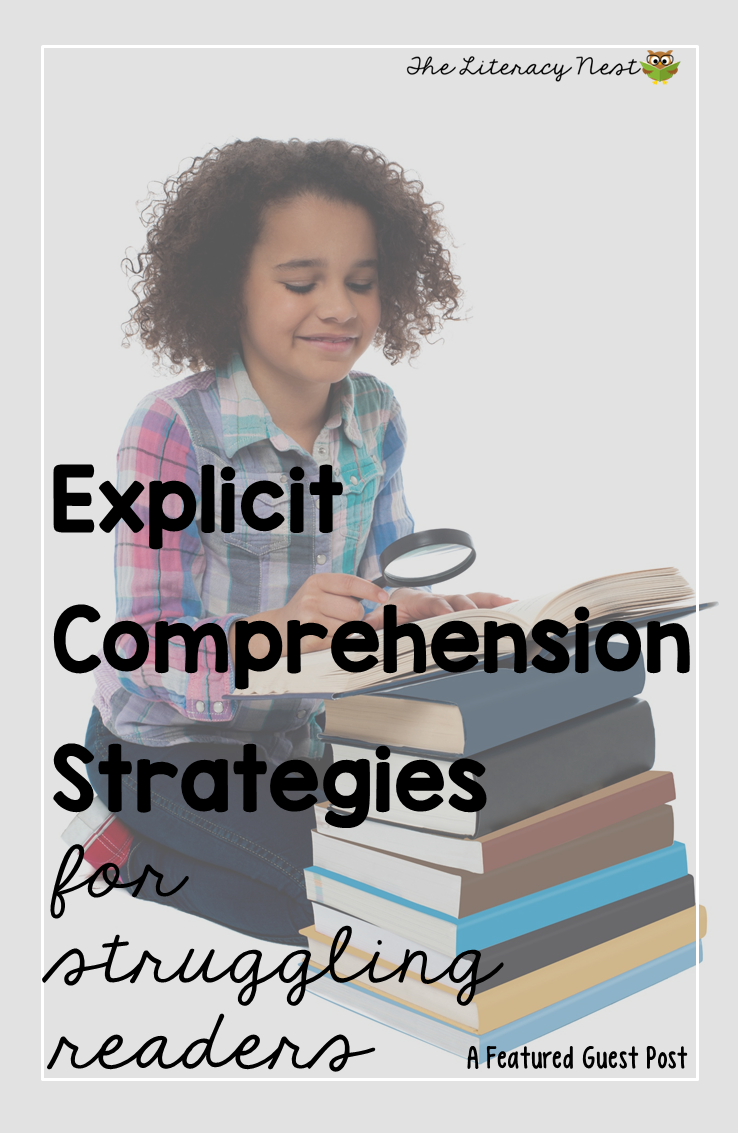 explicit comprehension strategies for struggling readers