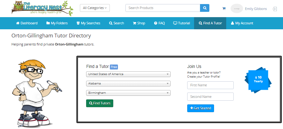 Find an Orton-Gillingham tutor