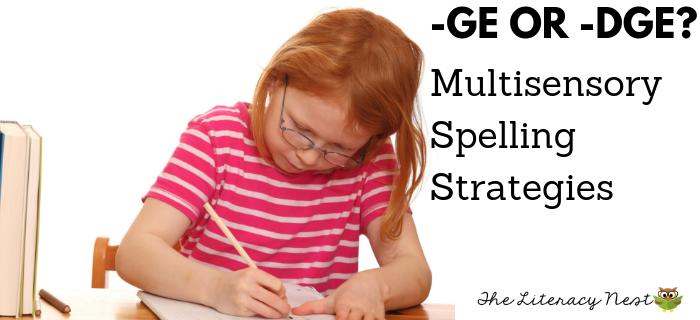 Multisensory Spelling Strategies for GE or DGE