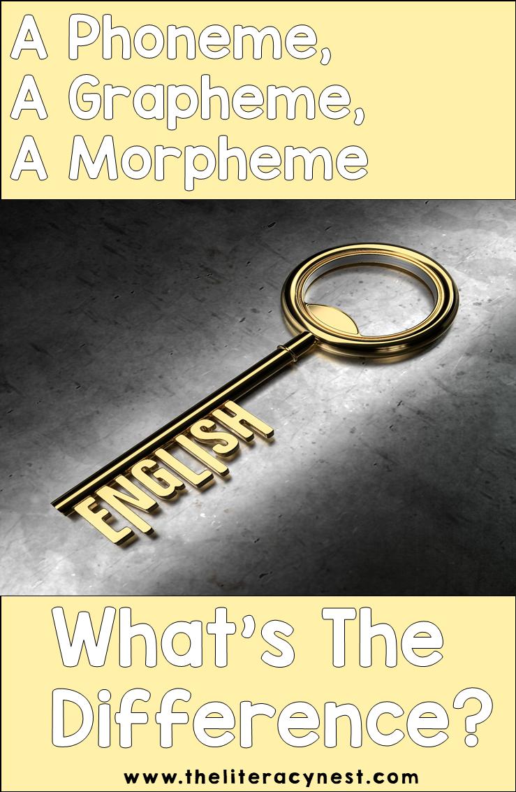 phoneme grapheme morpheme