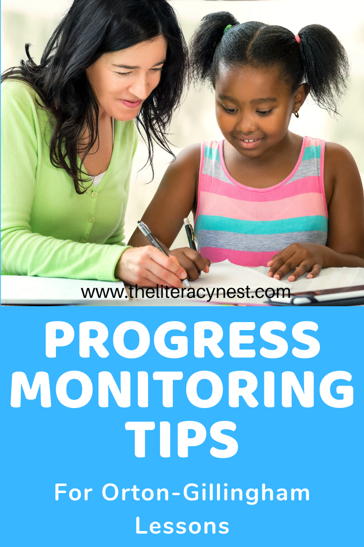 progress monitoring for orton-gillingham lessons