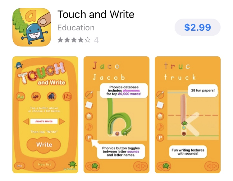 The Best Reading and Writing Apps touch and write app