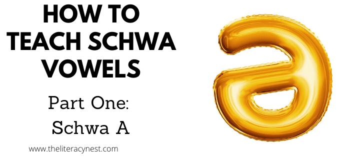 How to teach schwa vowels schwa A
