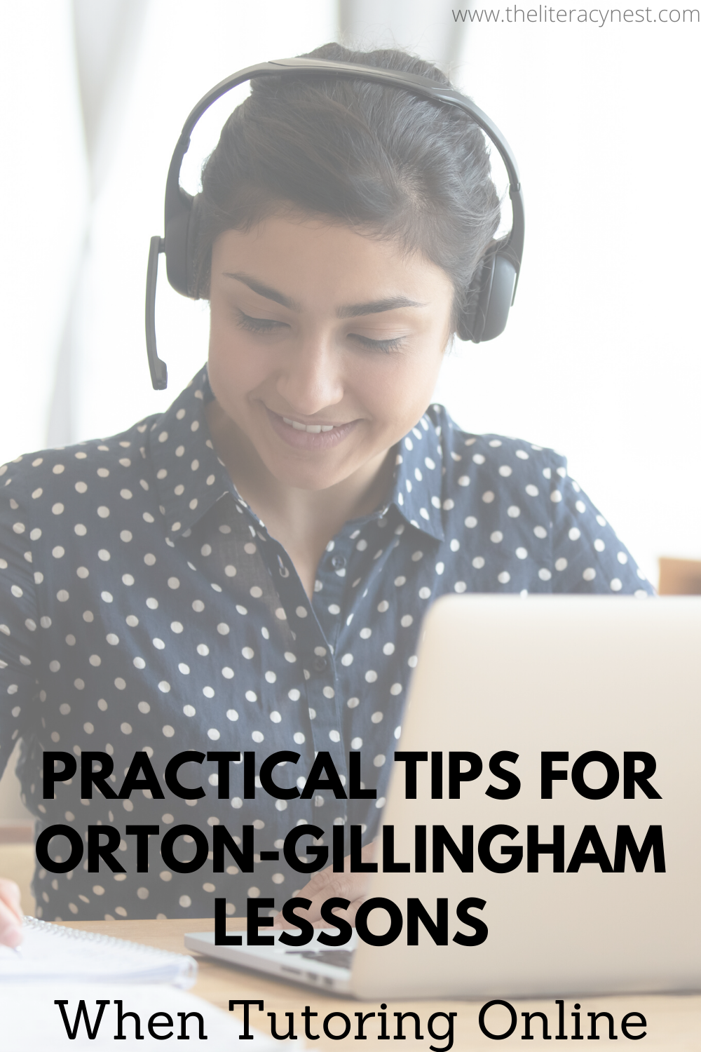 Online Tutoring with Orton-Gillingham lessons for distance learning