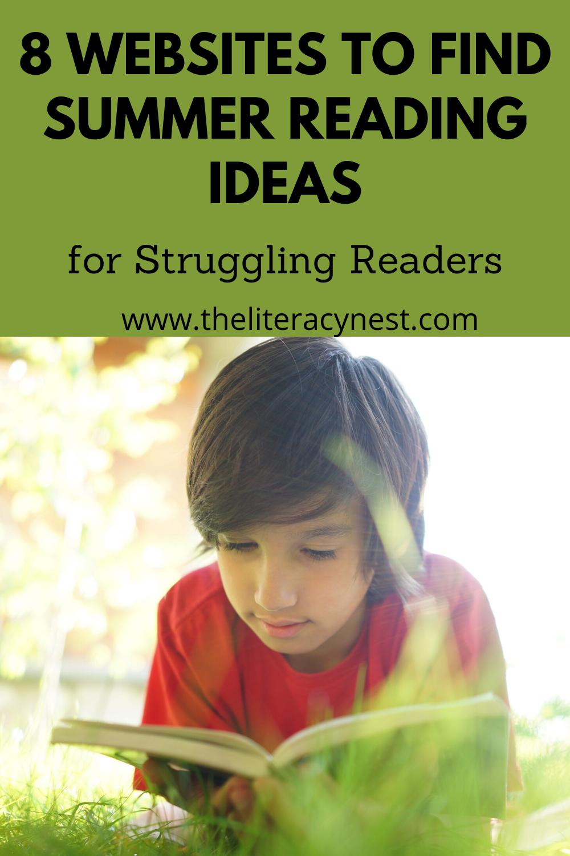 websites for summer reading for struggling readers