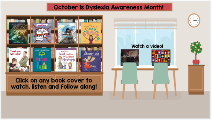 dyslexia awareness month virtual classroom