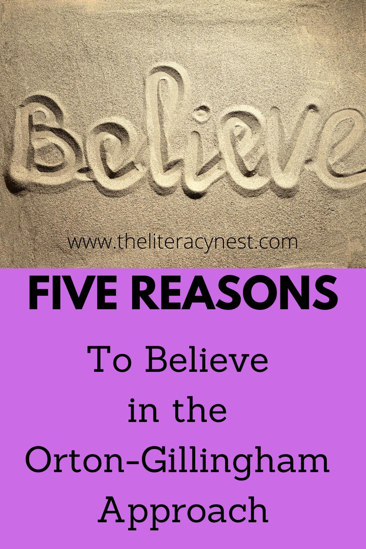 reasons to believe in Orton-Gillingham